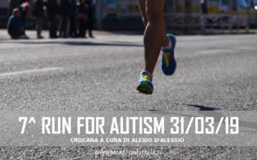 7^ Run For Autism – Roma 31 Marzo 2019