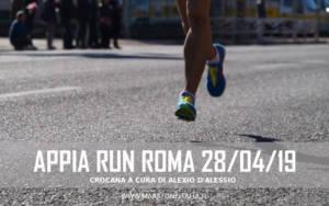 cronaca appia run 28 aprile 2019