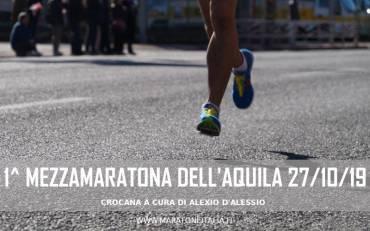 1^ Mezzamaratona dell'Aquila – Città del mondo 27/10/19