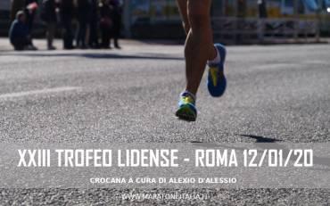 XXIII Trofeo Lidense – Roma 12 Gennaio 2020