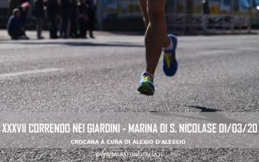 XXXVII Correndo nei Giardini – Marina di S. Nicola (RM) – 1/03/20